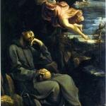 G. Reni, San Francesco consolato da un angelo musicante