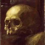 F. Albani, Teschio, frammento dela pala perduta San Guglielmo in preghiera, confortato dalla Vergine